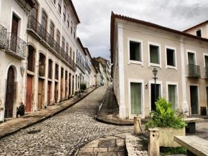 Postal: Una vieja calle de ciudad