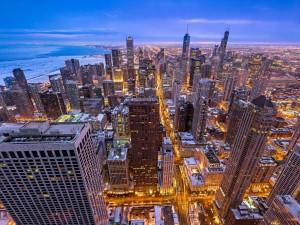 Postal: Edificios vistos desde arriba