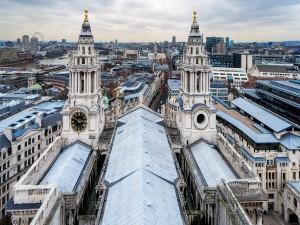 Postal: Las torres de la catedral de San Pablo, Londres