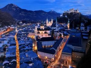Postal: La noche en Austria