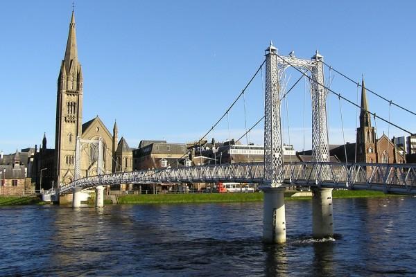 El río Ness en Inverness