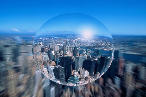 La ciudad vista en aumento