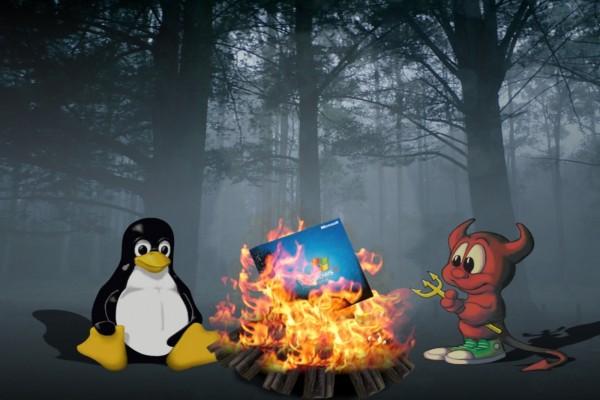 Linux quemando a Windows