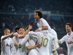 Postal: Jugadores tras meter un gol