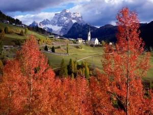Postal: Pueblo en la región italiana de Veneto