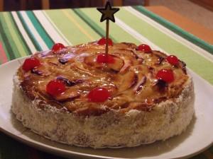Postal: Tarta de manzana para un cumpleaños