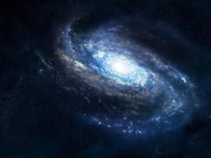 Postal: Galaxia azulada