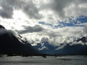 Nubes en las montañas