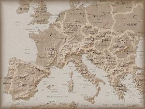 Postal: Mapa de Europa