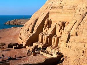 Postal: Visita a Abu Simbel, Egipto