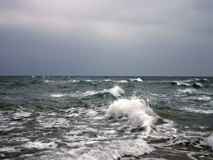 Postal: Oleaje en el mar