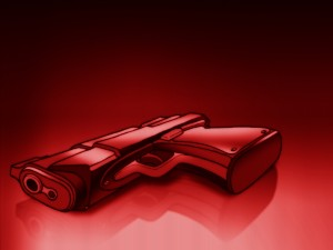 Postal: Pistola roja