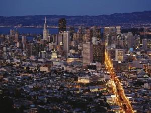 Luces en la ciudad de San Francisco