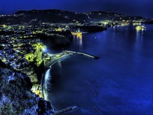 Postal: Luces en la costa