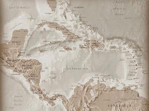 Postal: Mapa de América Central