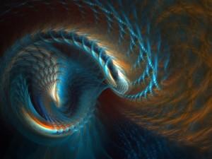Postal: Espiral de plumas