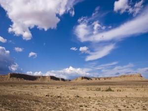 Postal: Montañas en el desierto
