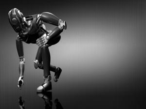 Postal: Robot listo para correr
