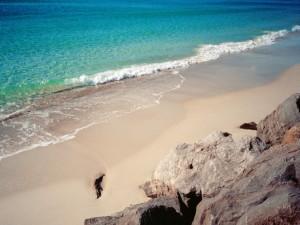 Postal: Playa de arena fina