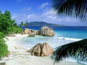 Playa en la isla La Digue, Seychelles