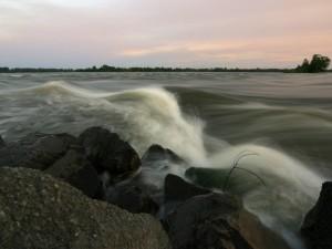 Postal: Corriente de agua