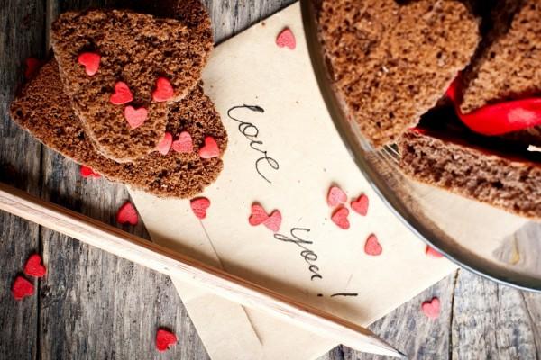 Galletas y un mensaje de amor