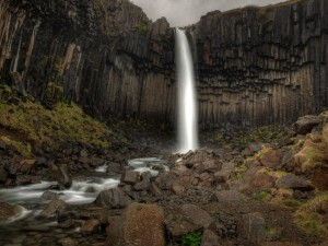 Postal: Gran cascada (Islandia)