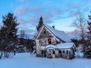 Casa de un lugareño finlandés