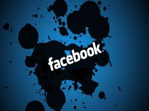 Postal: Facebook, manchas de tinta