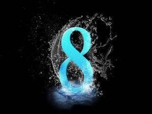 El número ocho en el agua