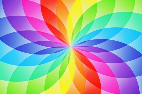 Pétalos abstractos de colores