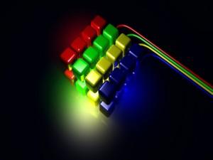Bloques de colores con luces