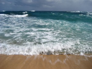 Postal: El mar visto desde la orilla