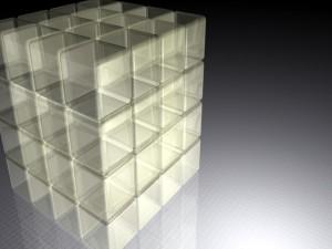 Cubos 3D transparentes
