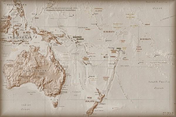 Mapa de Oceanía