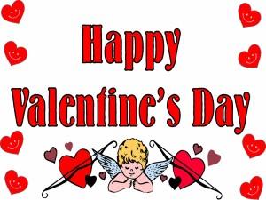 """Cupido desea """"Feliz día de San Valentín"""""""