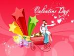 Enamorados celebrando San Valentín