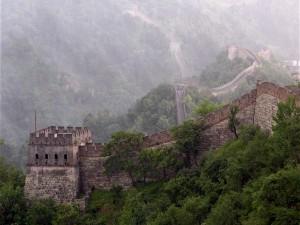 Postal: Niebla en la Gran Muralla China