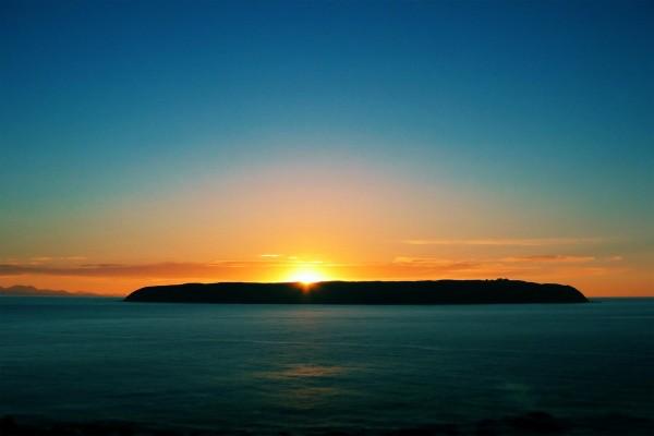 Puesta de sol en la isla
