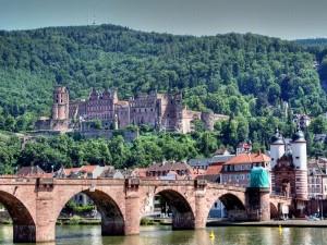 Vista del Castillo de Heidelberg en Heidelberg, Alemania