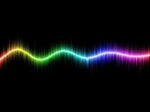 Línea de varios colores
