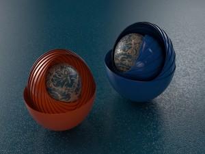 Postal: Bolas en 3D
