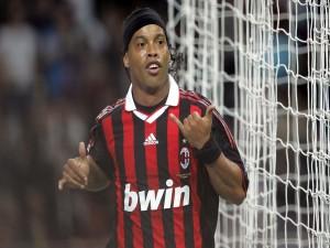 Postal: Ronaldinho en el A. C. Milan