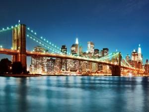 Noche brillante en Nueva York