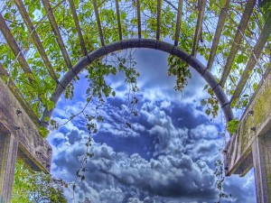 Viendo las nubes desde el arco