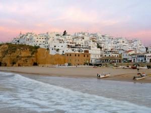 Postal: Playa en Albufeira, Portugal
