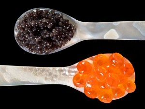 Cucharas con caviar