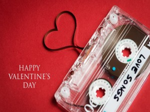 Postal: ¡Feliz Día de San Valentín! con canciones de amor