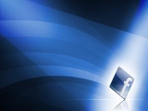 Postal: Facebook azul