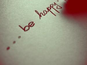 Postal: Sé feliz